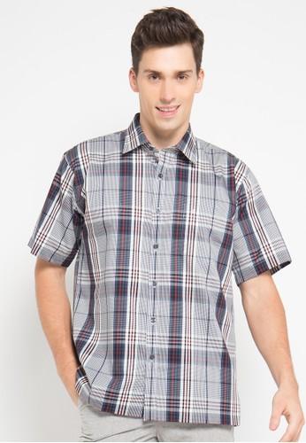Manhattan navy Shirt Short Sleeve MA642AA49VYCID_1