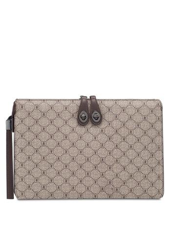 Playboy brown Faux Leather Clutch Bag FD0C2AC7928E1EGS_1