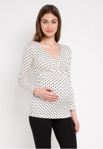 Envie De Fraise white Maternity Fiona Long Sleeve Top F7A08AA10BCE0BGS_1