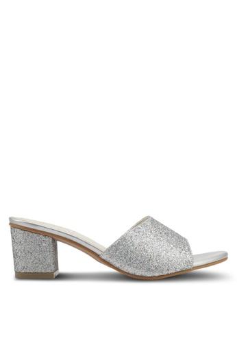 Spiffy silver Glitter Mule Block Heels SP352SH0SRY9MY 1 78c9fdae67c9