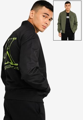 Calvin Klein black Logo Bomber Jacket - CK Jeans 20AC1AA0D7316AGS_1