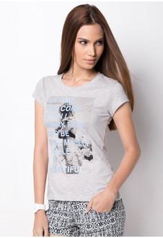 Printed Slubs Round Neck Shirt