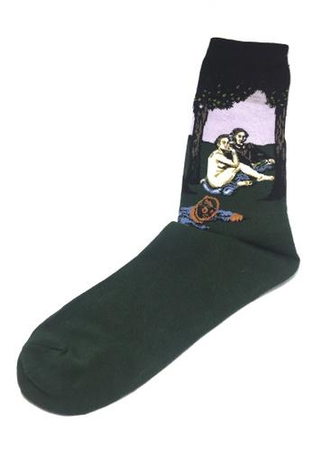 Splice Cufflinks Illustrious Series Dark Green and Black The Adam and Eve Socks SP744AA87XIASG_1