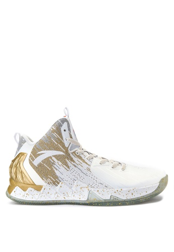 Anta white and yellow and gold KT - The Chase - Home Basketball Shoes  AN488SH0ISVSPH_1