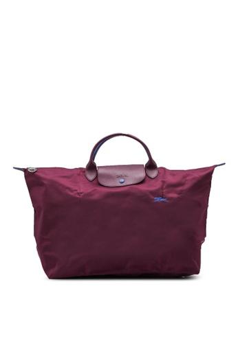 Longchamp purple Le Pliage Club Travel Bag L (zt) 73E4CACA438347GS_1