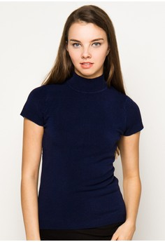 Cap S/ Turtle Neck Knitted