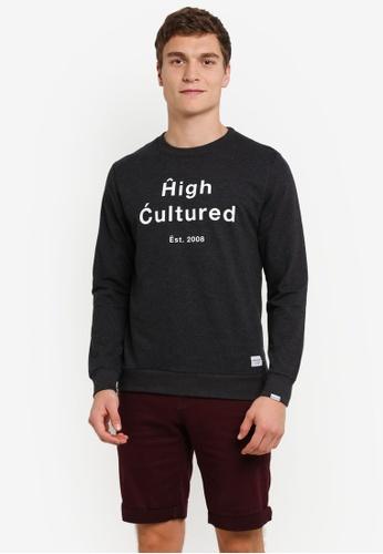 High Cultured 黑色 打印 毛衣 HI002AA0S1U0MY_1
