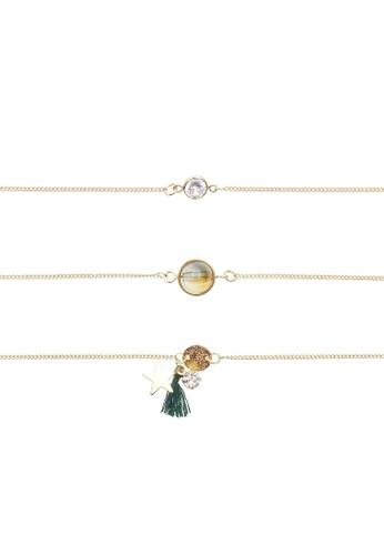 LUCCACAL gold 3 x Abbie Everyday Fine Bracelet Set  DA9E8ACB72B1A5GS_1