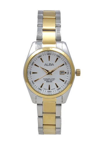 Alba gold and silver ALBA Jam Tangan Wanita - Silver Gold White - Stainless Steel - AH7A28 F4F0EACE2A9820GS_1