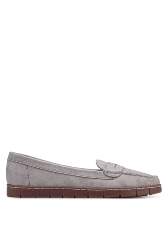 Bata grey Round Toe Boat Shoes 3930ESHDA8E249GS_1