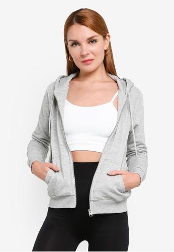 H&M grey Hooded Jacket 02CDFAAA148EE4GS_1