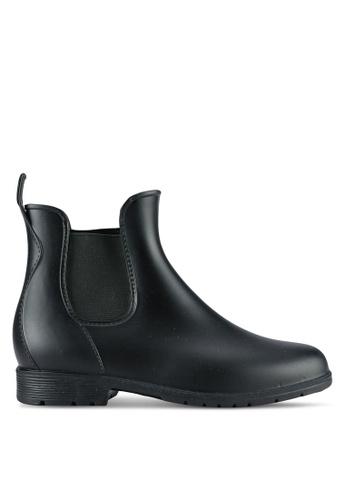 Twenty Eight Shoes black Elastic Ankle Rain Boots TW281SH0RLUMMY_1
