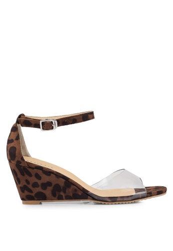 6ad6f5d5a61 Buy Heatwave Perspex Wedge Sandals Online on ZALORA Singapore