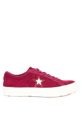 3a66a7ccbf9 Shop Converse One Star Love Metallic Sneakers Online on ZALORA Philippines