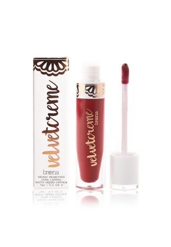 Breena Beauty red Velvetcreme Matte Liquid Lipstick in Lady Boss BR601BE08LNVMY_1