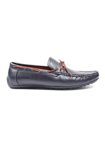 Moley navy Casual Loafers with Suede Lace MO329SH0GNQKSG_1