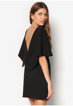 Premium Low Back Cape Dress