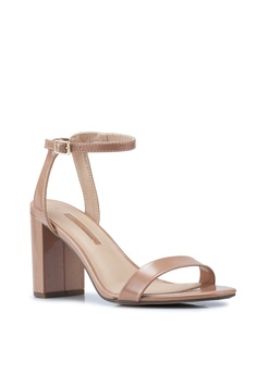 09b6593485e Dorothy Perkins Nude Shimmer Block Heels RM 159.00. Sizes 3 4 5 6 7