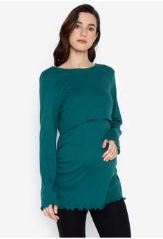 4e71da30ee182 Dorothy Perkins green Maternity Teal Nursing Double Layer Top  993E9AA3C9CDCCGS_1