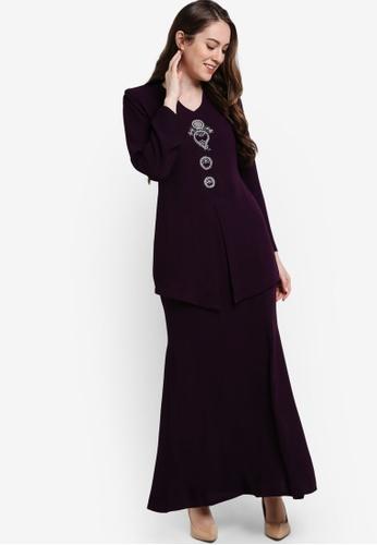 Butik Sireh Pinang purple Bella Donna Kebaya Moden BU003AA78SFDMY_1