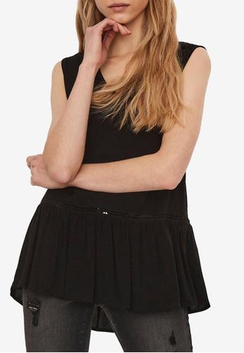 Vero Moda black Gidget Sleeveless Top 81E79AA5BFD6E1GS_1