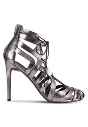 Miss Selfridge silver Circus Caged Ghillie Heels MI665SH25NZUMY_1