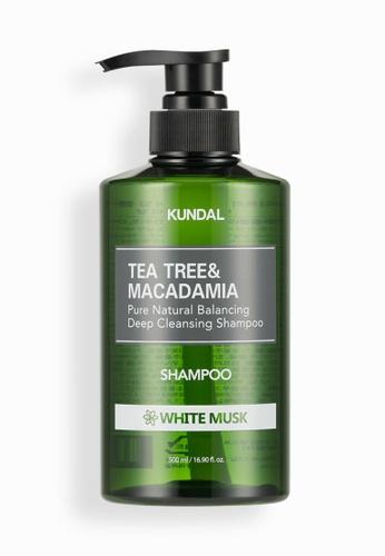 KUNDAL [KUNDAL] Tea Tree and Macadamia Deep Cleansing Shampoo 500ml White Musk 64268BE9E8090DGS_1