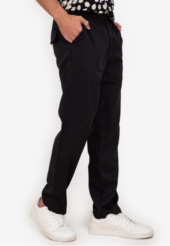 ZALORA BASICS black Straight Leg Trousers A4E19AAC1F8B27GS_1