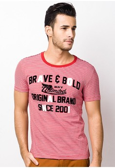 Unltd. Stripe Round Neck T-shirt
