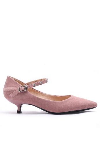 Twenty Eight Shoes 閃石釘絨料細跟高踭鞋295-13 70215SHC2258C3GS_1