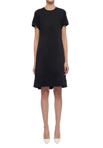 CK CALVIN KLEIN black Soft Cotton Twill Dress 75BCAAA3A06E63GS_1