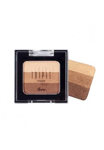 UNNY beige UNNY Triple Eyeshadow - #2 Creamy Mocha 913A4BE634E570GS_1