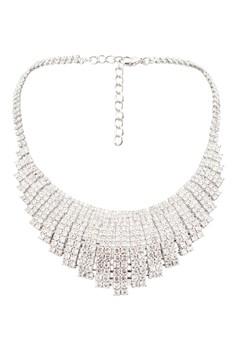 【ZALORA】 Diamante Encrusted Bib 項鍊