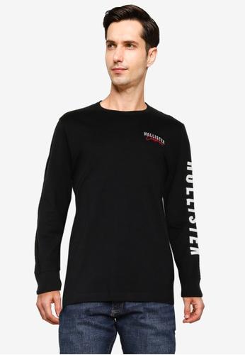 Hollister black Ombre Tech Logo Tee 395D5AA6E5A692GS_1