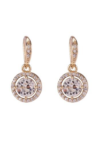 Mestige 金色 金色 Liberty 耳環With Swarovski Crystals 07B2EAC8A781C5GS_1
