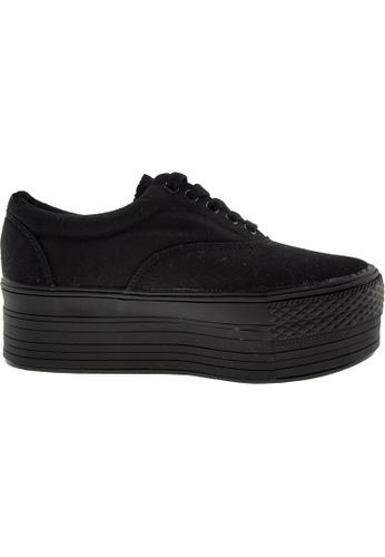 Maxstar black Maxstar Women's C50 5 Holes Platform Canvas Low Top Sneakers US Women Size MA164SH57PSCSG_1