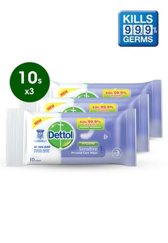 Dettol Dettol Anti Bacterial Wet Wipes Sensitive 10s - Bundle of 3 35DCEES641C271GS_1