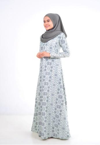 Assie Modesty green Fabulous A-Cut Dress (With Gemstone) C3DFEAAC0D9B26GS_1