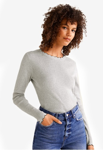 MANGO grey Ribbed Cotton-Blend Sweater 99AC4AA68D1636GS_1