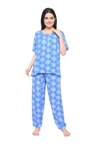 Pajamalovers blue Kiky092140 Long sets 2BB6CAA7A2A1FBGS_1