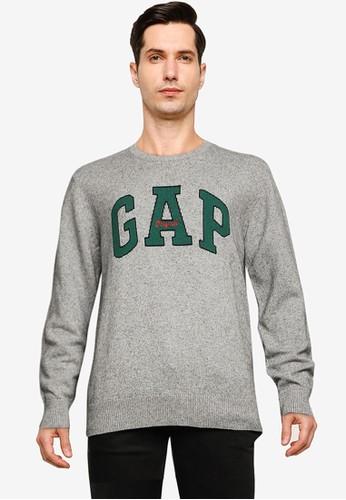 Gap grey Arch Crew Sweater 25538AAE181CAEGS_1