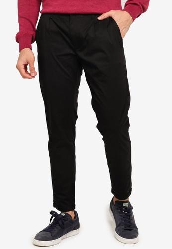 SPARROW GREEN black Fred Single Pleat Slim Pants E9DDBAA47254B1GS_1