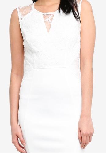 Shop ZALORA Bridesmaid Lace Overlay Pencil Dress Online on ZALORA  Philippines acf857576