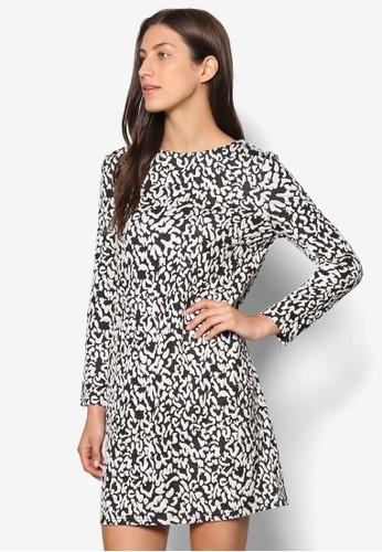 Cesprit part timeollection 印花直筒式洋裝, 服飾, 洋裝