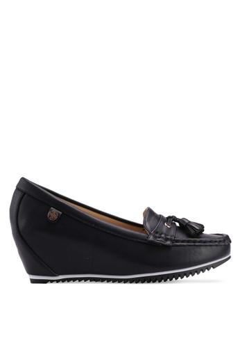 Carlton London black Tassel Front Loafers B97A1SH5CC604CGS_1