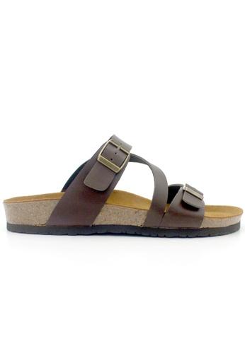 SoleSimple brown Hamburg - Brown Sandals & Flip Flops FA233SHDCC5393GS_1
