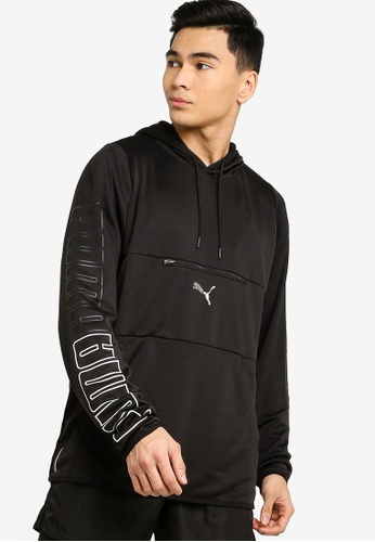 Puma black Power Knit Hoodie 2D5EAAA60B2068GS_1