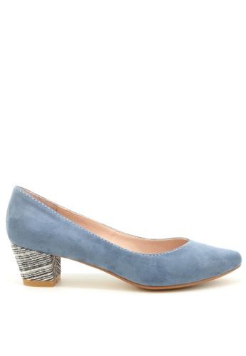 PRODUIT PARFAIT 藍色 絨面尖頭高踭鞋 5E6A7SH598BA15GS_1