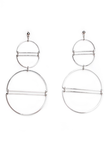 Gung Jewellery silver Vic Double Round Earring in Silver E2628AC4424C70GS_1