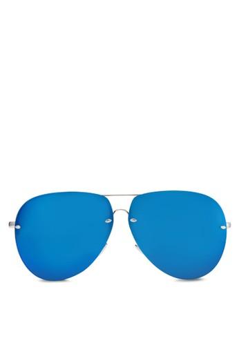 Conor 反光飛行員太陽眼鏡zalora 包包 ptt, 飾品配件, 飛行員框